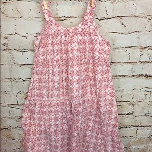 Lucy Sykes Girls Summer Dress White Red size 6